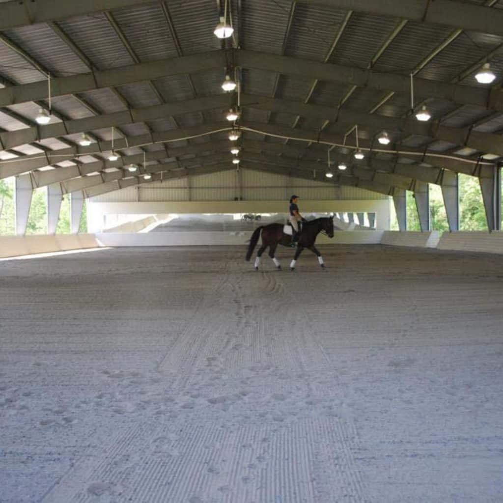 shelter, metal shelter, steel shelter, steel pole barn, horse barn, covered horse arena, horse arena, riding arena