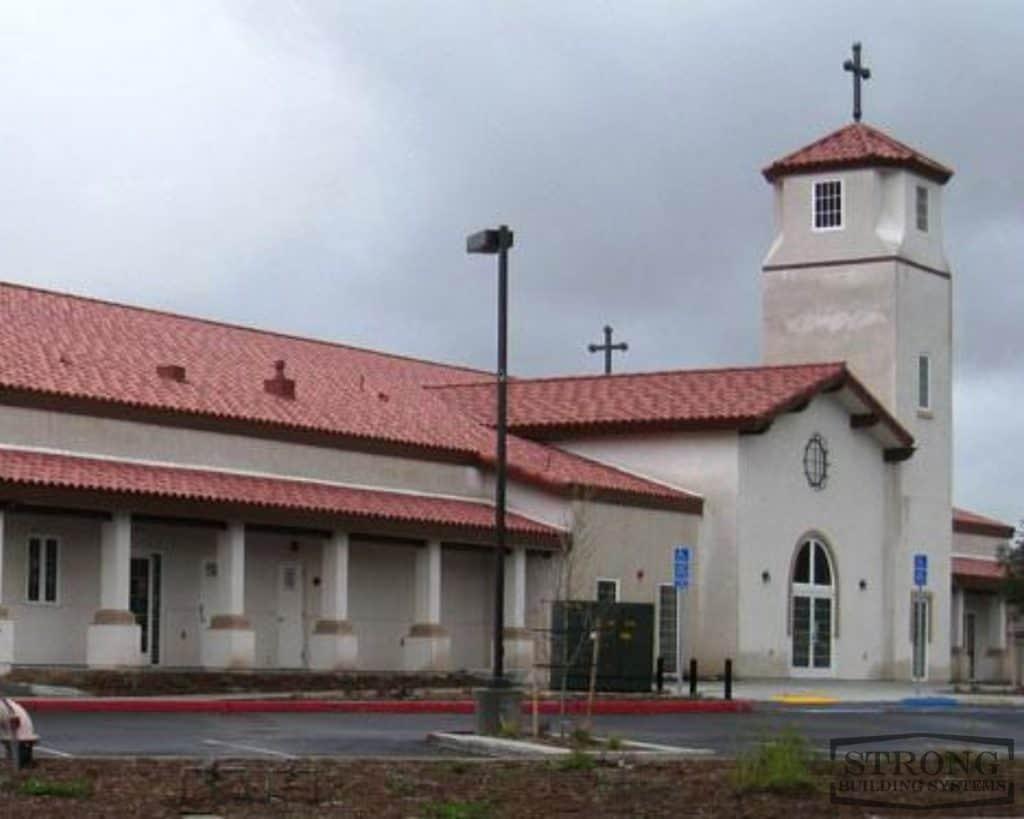 metal church building