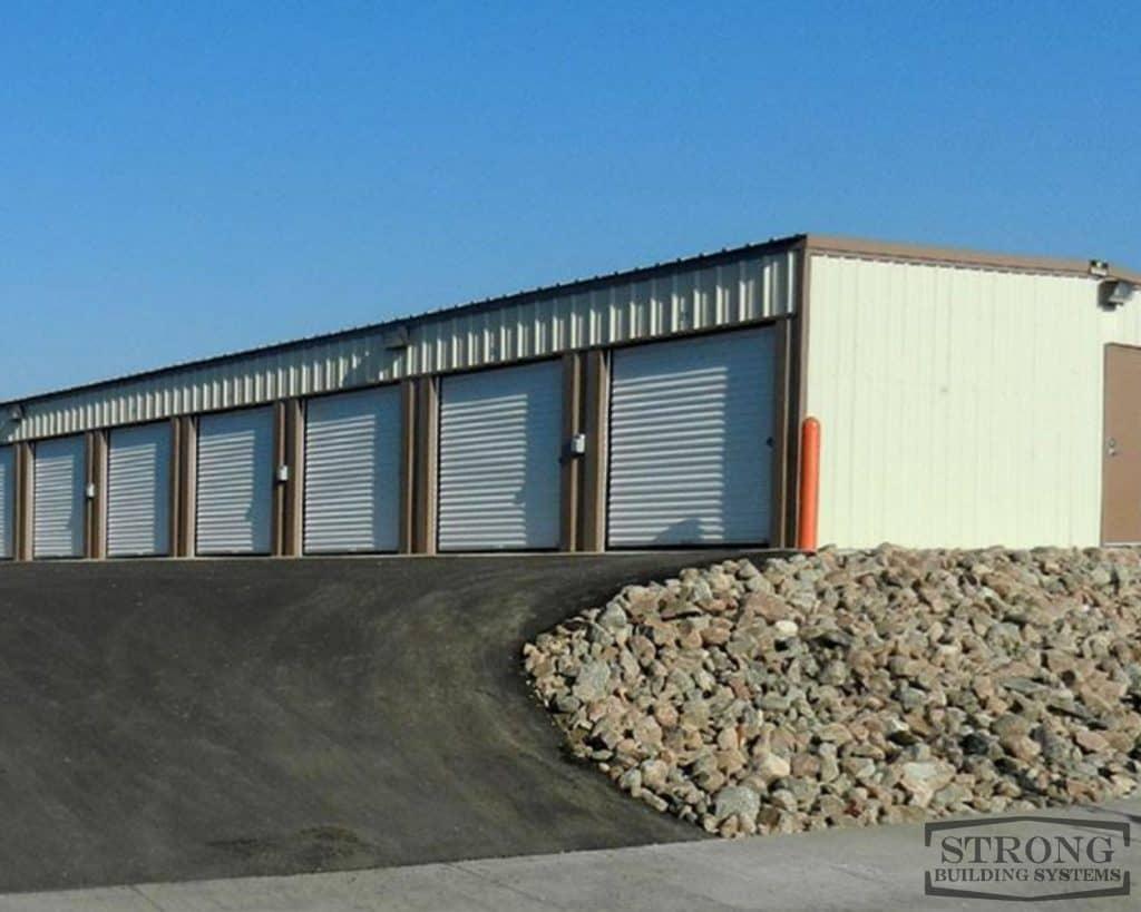 steel self storage building