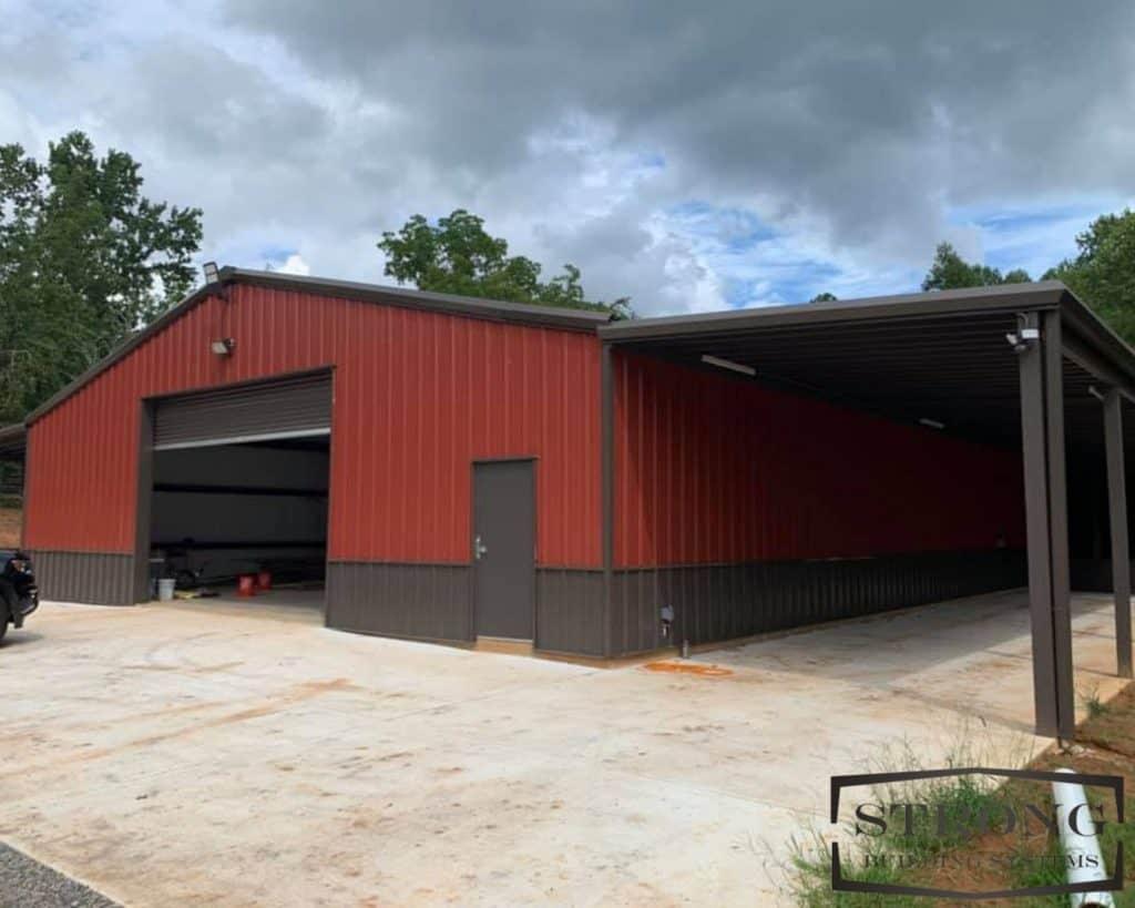 steel pole barn, metal barn